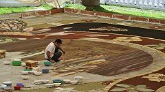 España Directo - El arte efímero de las alfombras de arena del Corpus Christi de La Orotava