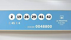 Sorteo de la Lotería Primitiva y Joker del 10/06/2021