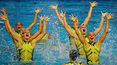 El equipo español de natación artística logra la plaza olímpica
