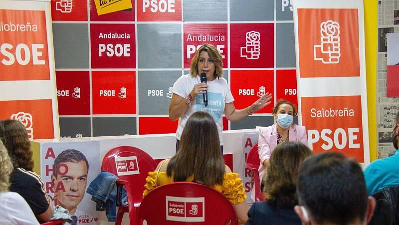 Susana Díaz se mide este domingo con Juan Espadas y Luis Ángel Hierro en las primarias del PSOE andaluz