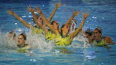 Natación artística - Clasificación olímpica final rutina libre equipos y final World Series