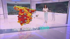Chubascos y tormentas localmente fuertes y acompañadas de granizo en el este de Castilla y León, Aragón e interior de Cataluña
