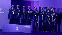 Natación artística - Entrega de medallas