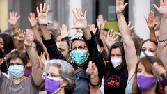 Manifestaciones en Canarias en repulsa por el asesinato de las niñas de Tenerife presuntamente a manos de su padre