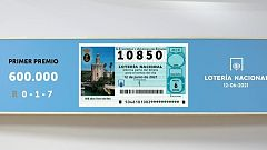 Sorteo de la Lotería Nacional del 12/06/2021