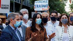 """Arrimadas: """"Sánchez se presentó a las elecciones diciendo que no iba a indultar a los golpistas, ¡Que cumpla su promesa!"""""""