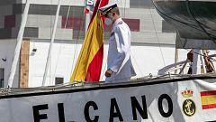 El buque Juan Sebastián Elcano llega a Cádiz tras diez meses de travesía