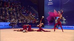 Gimnasia rítmica - Campeonato de Europa. Final conjuntos por aparatos 5 pelotas
