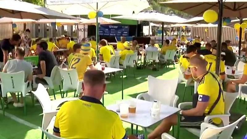 La afición sueca desembarca en Sevilla