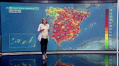 Chubascos y tormentas localmente fuertes en el entorno de Galicia, Asturias y noroeste de Castilla y León. Temperaturas significativamente altas en zonas del noreste de la Península