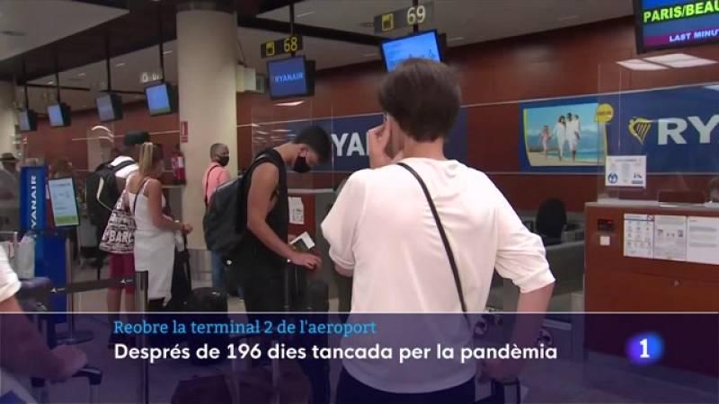 La Terminal 2 de l'Aeroport del Prat ha recuperat l'activitat després de mig any
