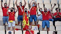 12.500 aficionados presenciaron el debut de España en la Eurocopa