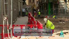 Aquí hay trabajo - Se buscan trabajadores de la construcción
