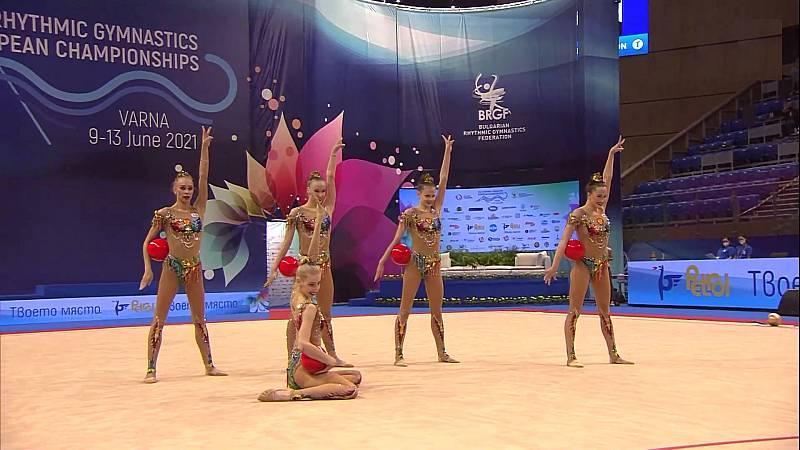 Gimnasia rítmica - Campeonato de Europa. Final conjuntos grupo B - ver ahora