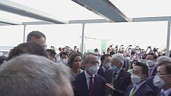 El Rei i el president Pere Aragonès s'acaben fent la foto al Cercle d'Economia