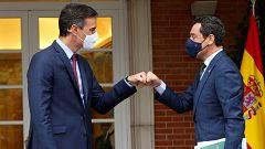"""Moreno urge a Sánchez a """"activar"""" la mesa bilateral sobre el reparto de fondos europeos"""