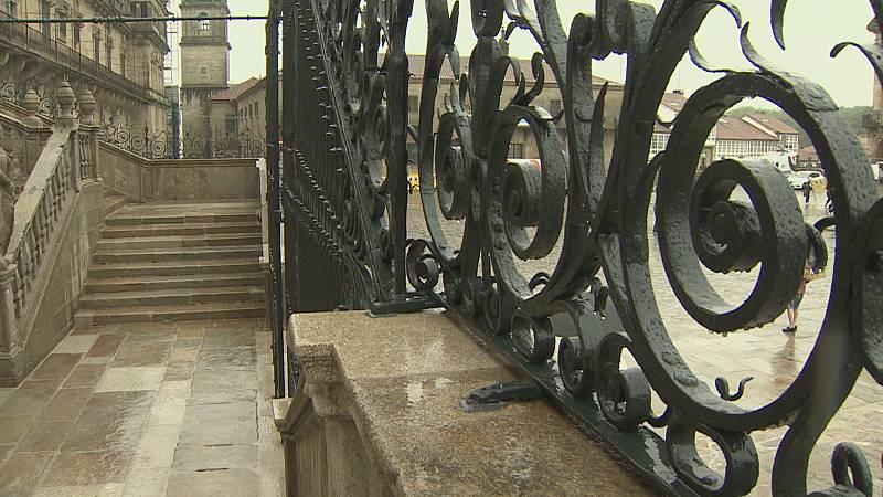 Catedral de Santiago, remata a restauración da fachada do Obradoiro