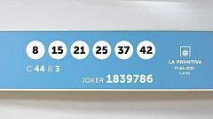 Sorteo de la Lotería Primitiva y Joker del 17/06/2021