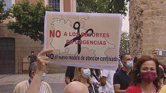 Tensión en la concentración contra el cierre de las Urgencias de Atención Primaria