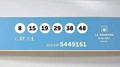Sorteo de la Lotería Primitiva y Joker del 19/06/2021