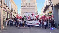 Protestas en Extremadura contra el ERE de Caixabank