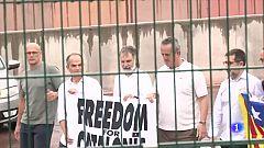 Els 9 indultats del procés surten de la presó reivindicant la independència