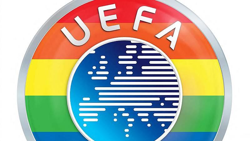 La UEFA pinta su logo con los colores LGTBI