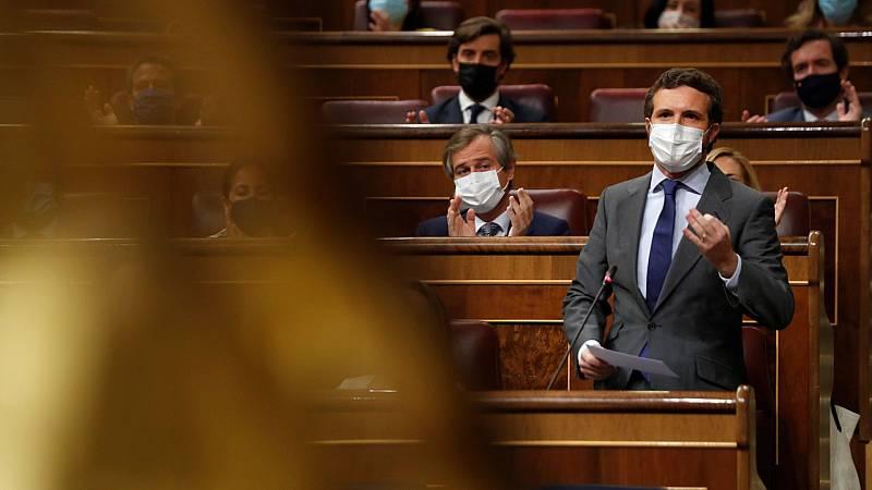"""Casado pide a Sánchez que dimita por """"traicionar"""" a España y convoque elecciones"""