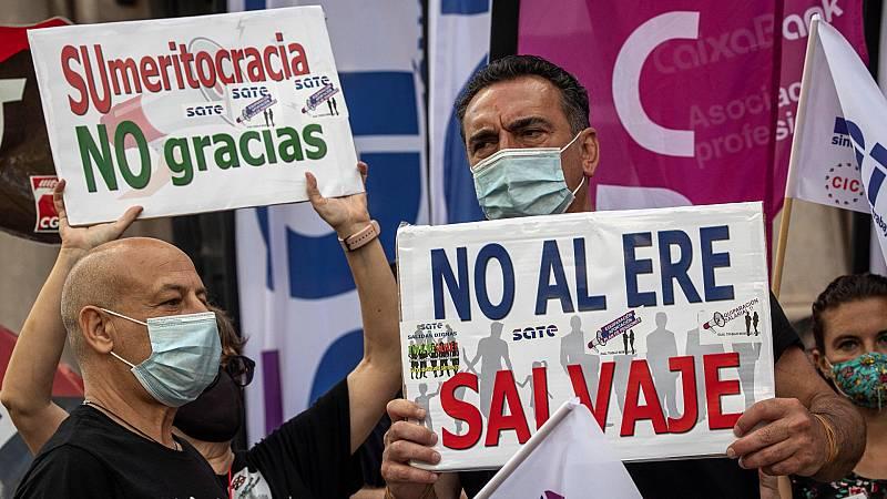 Huelga por el ERE de CaixaBank: los trabajadores rechazan la última oferta de la entidad