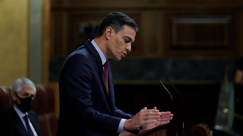 """Sánchez defiende los indultos ante el Congreso: """"Es legal y plenamente constitucional, no solo cuando lo adopta el PP"""""""