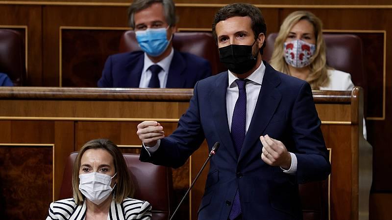 """Casado, a Sánchez: """"Me duele España, como a millones de ciudadanos, por su deriva destructiva para seguir en el poder"""""""