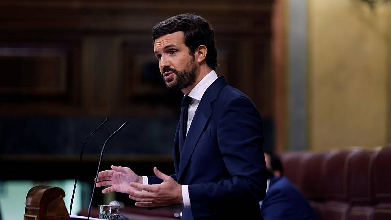 """Casado, a Sánchez: """"De su mano el golpismo ha dejado de ser un delito para convertirse en un buen negocio"""""""
