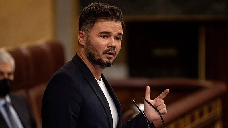 """El portavoz de ERC Gabriel Rufián: """"Los indultos no son una medida para solucionar el conflicto político, son una medida para mejorar el clima político"""""""