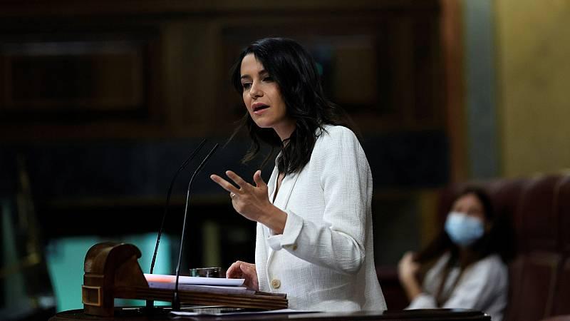 """Arrimadas, a Sánchez: """"Usted es el presidente de tres grandes mentiras relacionadas con los indultos"""""""