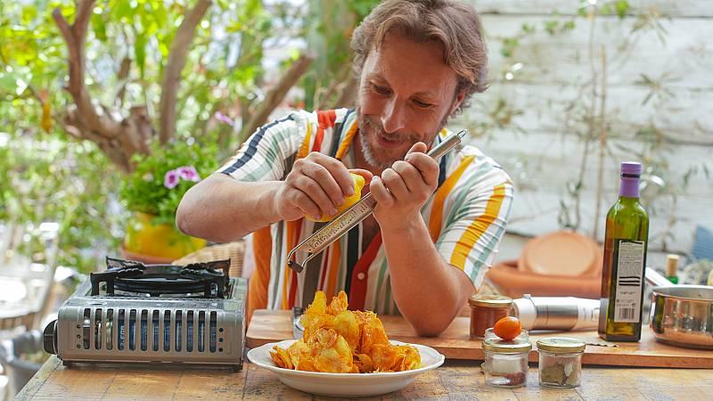 Receta tradicional al estilo Gipsy Chef: chips de patatas a la riojana