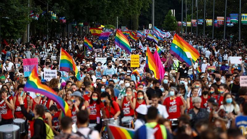 La marcha del Orgullo vuelve a las calles de Madrid, sin carrozas y con aforo limitado a 25.000 personas