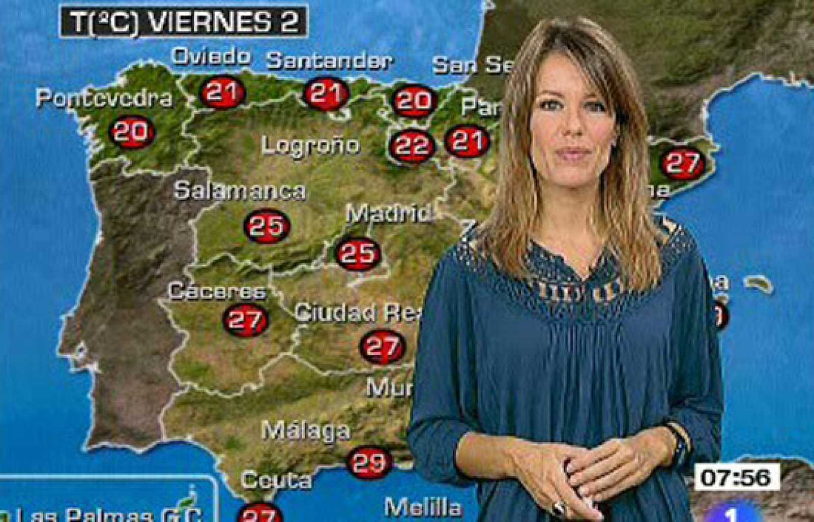 Chubascos en Baleares, Cataluña, Cantábrico, Navarra y Alto Ebro