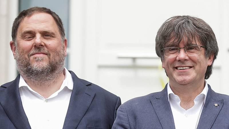 Puigemont y Junqueras se reencuentran tras casi cuatro años