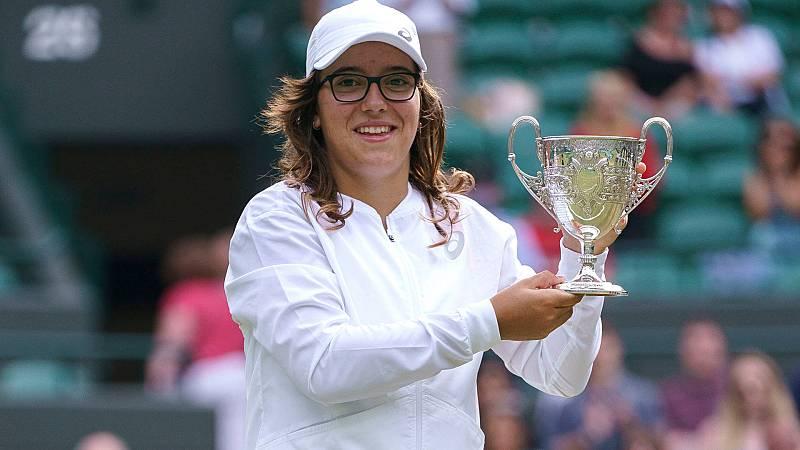 Ane Mintegi, la campeona de Wimbledon junior que empezó con la raqueta en el frontón de Idiazabal
