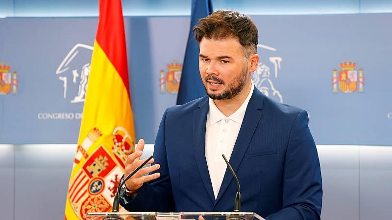 """Rufián, sobre el Tribunal de Cuentas: """"Es una institución anacrónica, no es Poder Judicial pero condena a la gente a multas por sus ideas"""""""