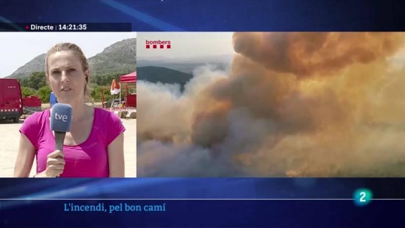 L'incendi del massís del Montgrí, contingut però sense estabilitzar els flancs