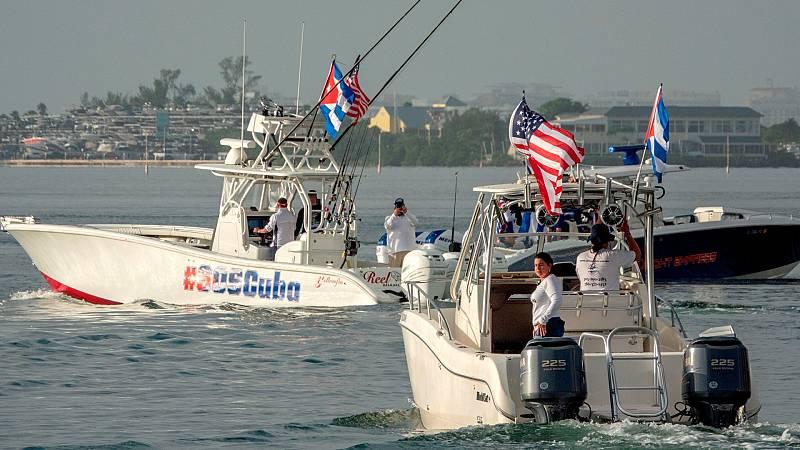 La flotilla de apoyo a las protestas en Cuba zarpa de Miami