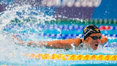 Mireia Belmonte roza la medalla en 400m estilos