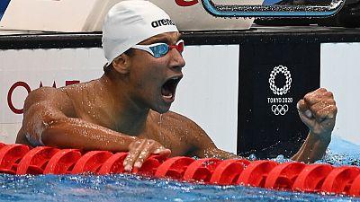 El tunecino Hafnaoui sorprende con el oro en 400 libres