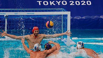 España vence a Serbia en waterpolo (13-12)