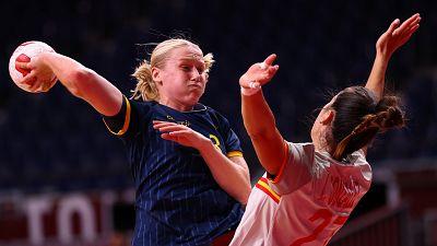 España cae ante Suecia en el debut de las Guerreras (24-31)