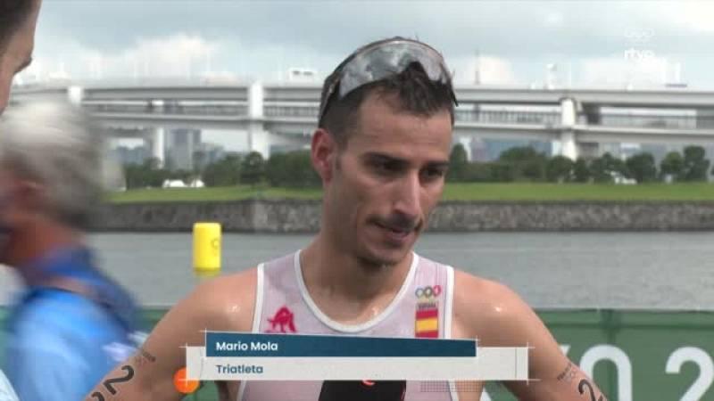 """Mario Mola: """"Hemos pagado la natación y el trabajo que hemos tenido que hacer durante 20 km para alcanzar la cabeza"""""""
