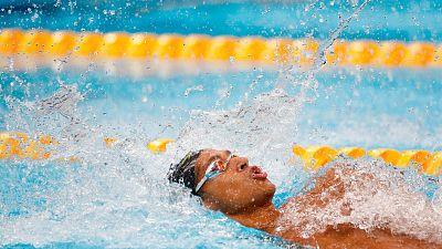 Hugo González se clasifica para la final de 100m espalda