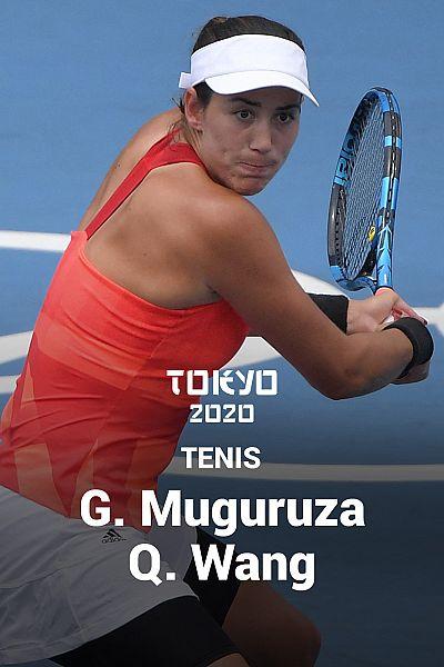 Tenis: Garbiñe Muguruza - Qiang Wang
