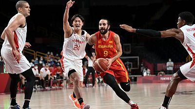 Ricky Rubio guía a España en su victoria ante Japón